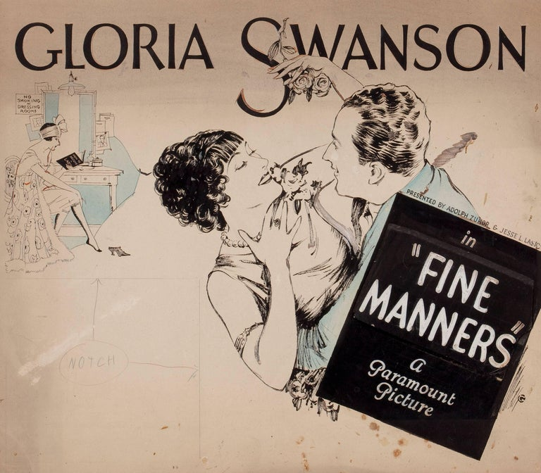 "Unknown Figurative Art - ""Fine Manners"" Movie Poster"