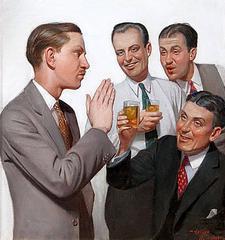 Four Men Conversing, Liberty Magazine Cover