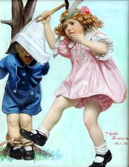 Children Playing Indians, Liberty Magazine Cover