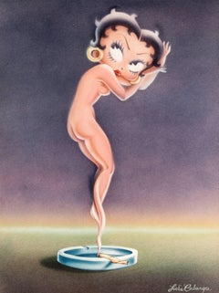 Betty Boop as a Cloud of Smoke from a Marijuana Cigarette (After Icart)