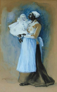Young Girl Held by Nanny