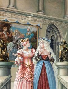 Millie and Repunzel, Xanth Calendar Illustration