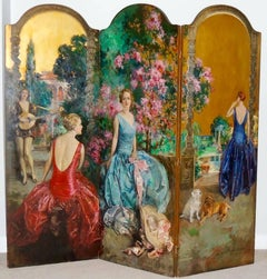 Four Women in a Fanciful Garden Setting