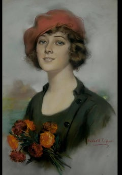 A Young Beauty Holding Flowers