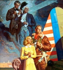 Parachuter with Abraham Lincoln and George Washington