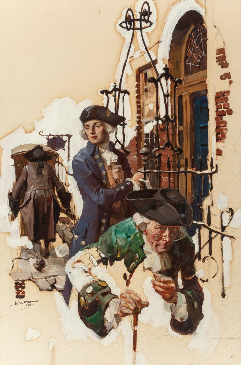 Dean Cornwell Figurative Painting - The Callers, Cosmopolitan Magazine Interior Illustration
