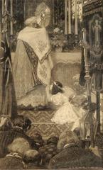 Girl Praying During a Church Ceremony