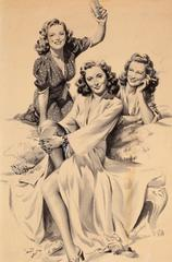 Barbara Stanwyck with Friends