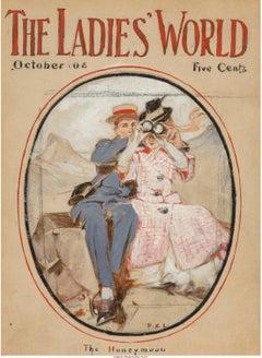 The Honeymoon, The Ladies World Magazine Cover, October 1908
