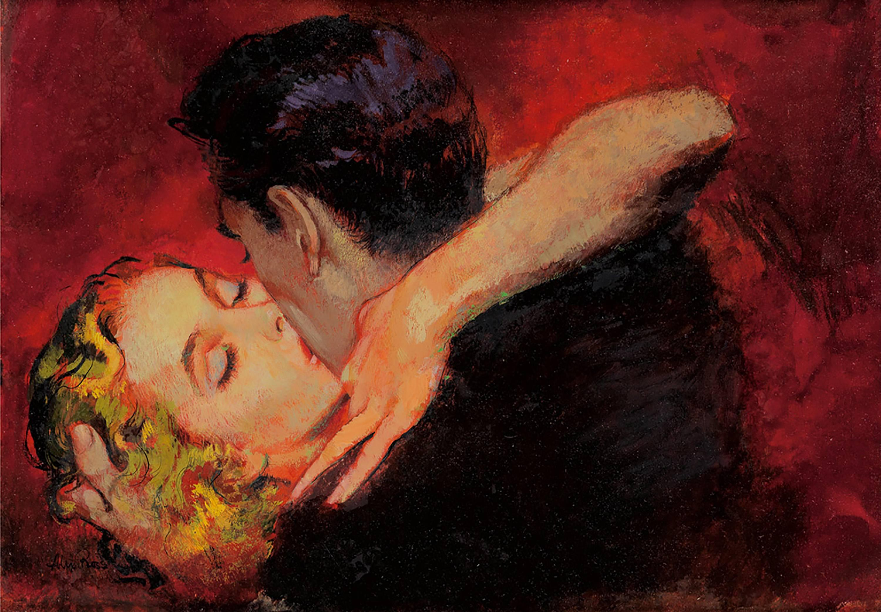"""""""The Embrace"""", Story Illustration for Cosmopolitan Magazine, August 1951"""