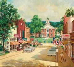 Town Square Scene, Brown & Bigelow Calendar