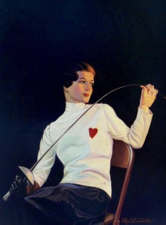 Female Fencer, Saturday Evening Post Cover