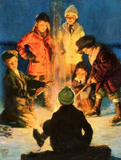 Boys Around a Campfire, Post Cover