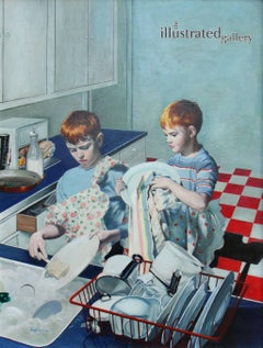 Boys Washing Dishes, Post Cover