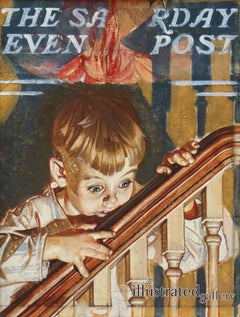 Study for 'Christmas Peek,' Saturday Evening Post Cover