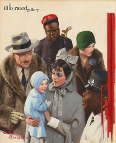 Departure at the Train Station, Liberty Magazine Cover, February 2, 1929