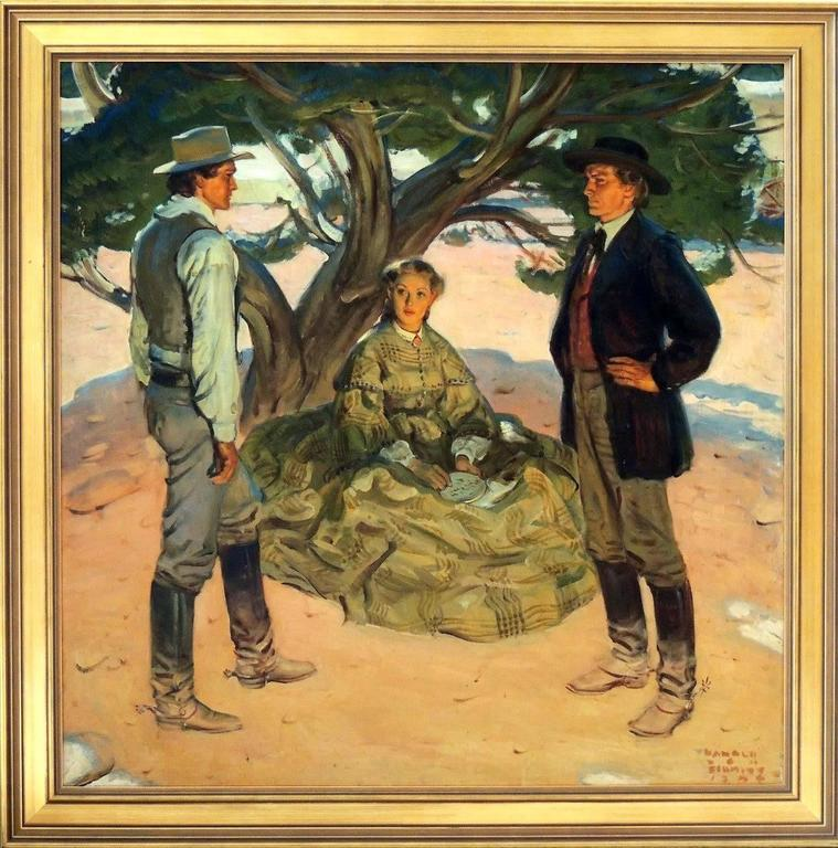 Under the Pine Tree - Other Art Style Painting by Harold von Schmidt