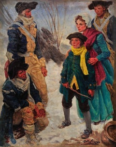 Colonial Soldiers at Valley Forge