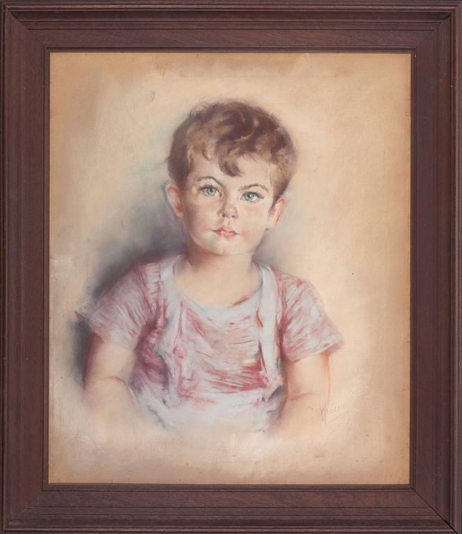 Portrait of William Lancaster - Painting by Eleanor Revere Weeden