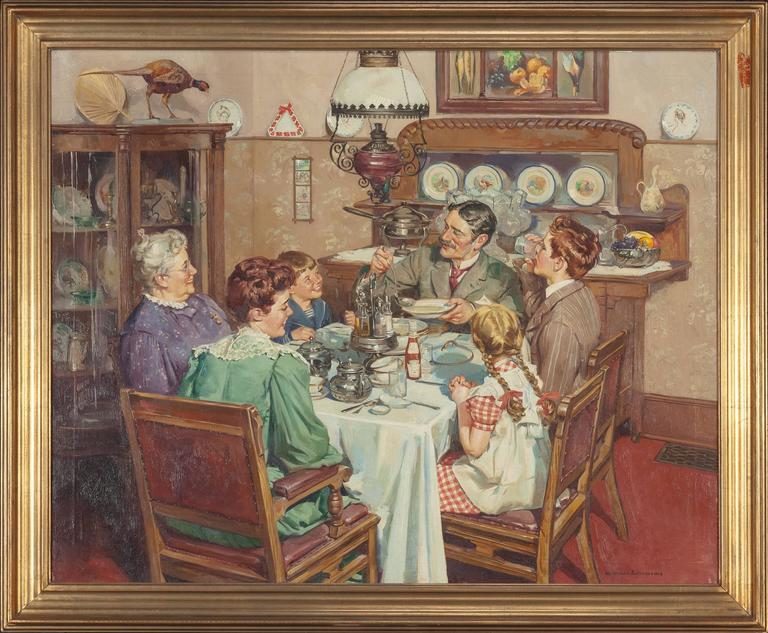 A Good Table is an American Tradition - Other Art Style Painting by Harold Anderson