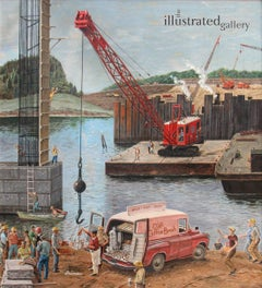 Bridge Construction, Saturday Evening Post cover
