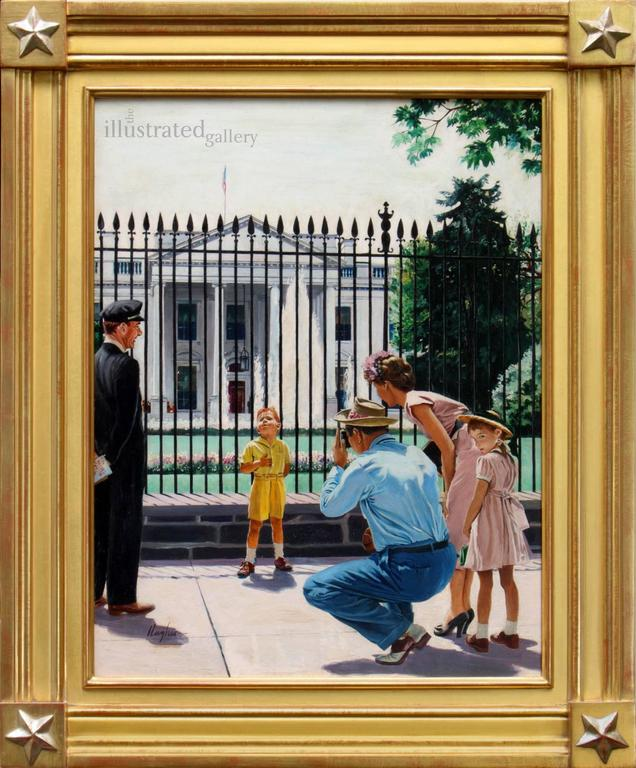 Future President, Saturday Evening Post Cover - Painting by George Hughes