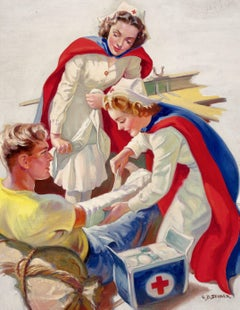 Helping the Wounded, Probable Red Cross Advertisement