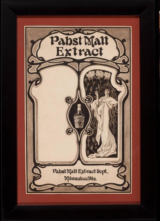 Pabst Malt Advertisement  - Art by Unknown