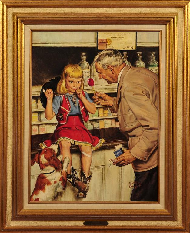 The Druggist - Painting by Walter Martin Baumhofer
