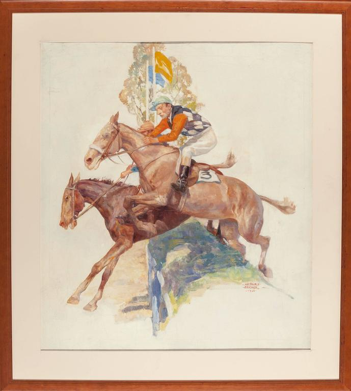 Steeple Chase - Painting by Arthur E. Becher