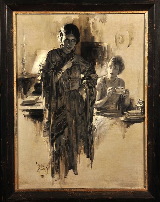 (Untitled) - Painting by Samuel Marshall Frantz