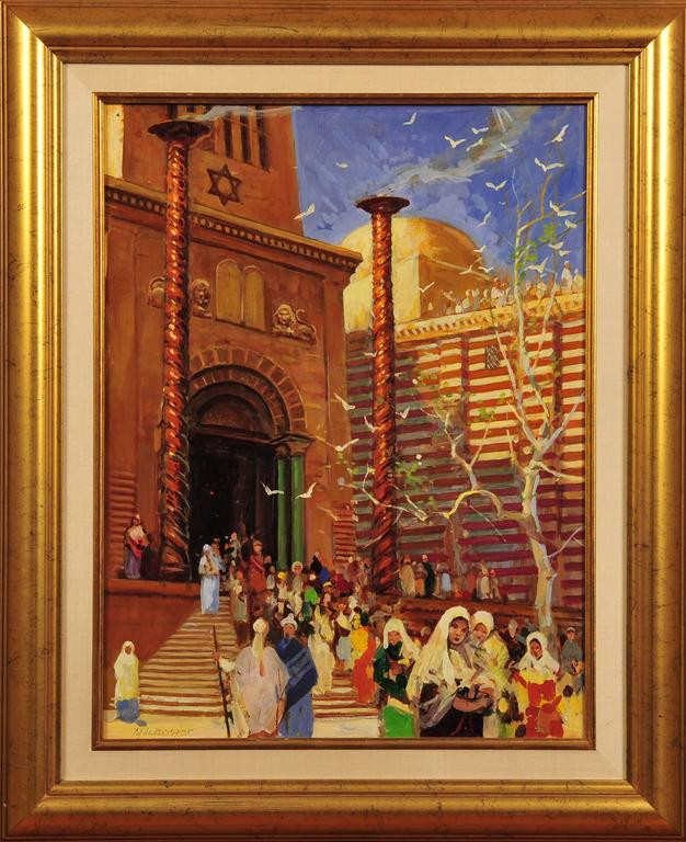The Holy Temple, Biblical Illustration - Painting by Maurice L. Bower