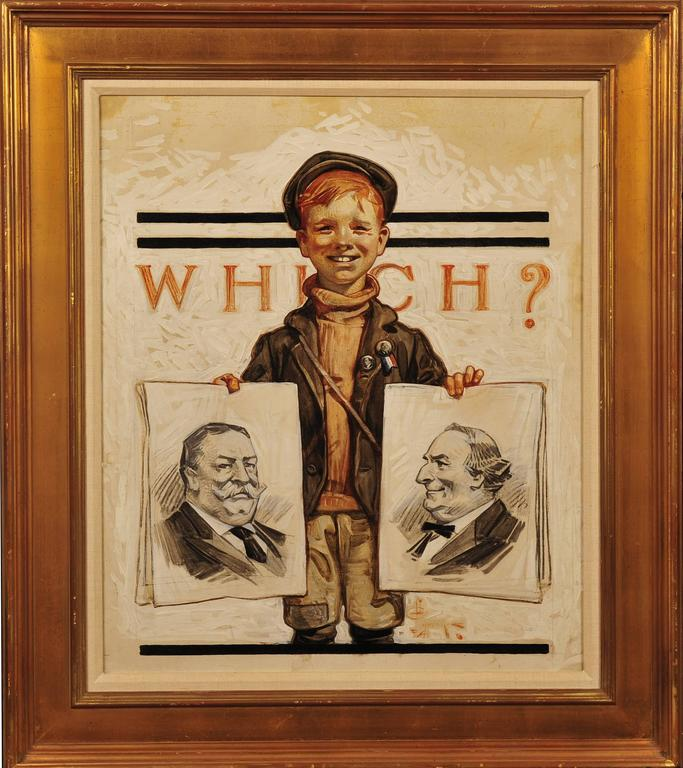 Which One? Saturday Evening Post Cover - Painting by Joseph Christian Leyendecker