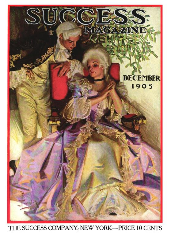The Courtship, Success Magazine Cover - Painting by Joseph Christian Leyendecker