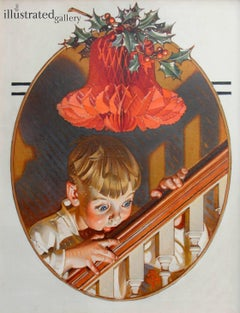 Christmas Peek, Saturday Evening Post Cover