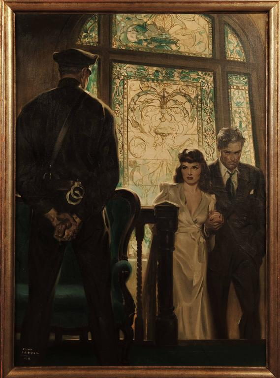 Tom Lovell Saturday Evening Post Story Illustration For Sale At 1stdibs