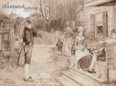 Sunday In Old Catskill, Harper's New Monthly Magazine Story Illustration