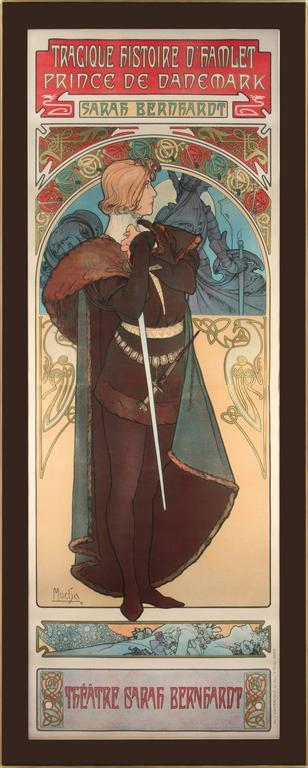 Hamlet - Print by Alphonse Mucha