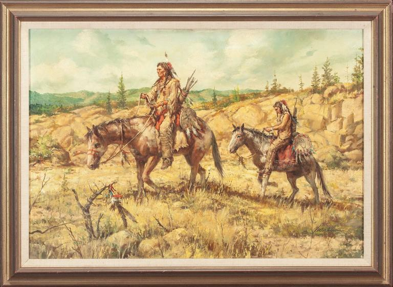 Western Scene - Painting by Victor Olson