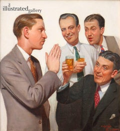 Four Men Conversing, Liberty Magazine Cover