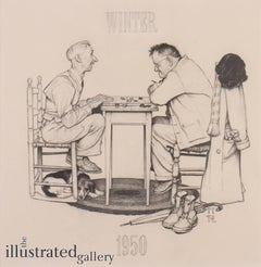 Two Old Men and Dog: Checkers