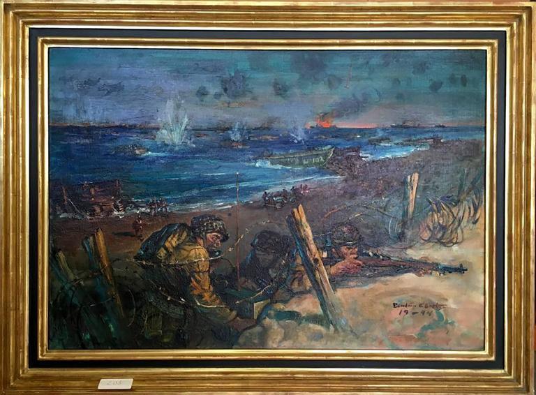 Landing at Normandy Beach - Painting by Benton Henderson Clark
