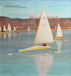 Ice Boating, Saturday Evening Post cover, November 28, 1959