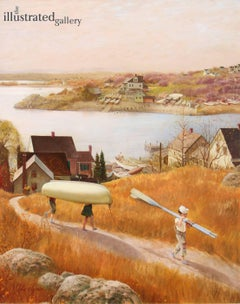 Children with Rowboat, Saturday Evening Post Cover