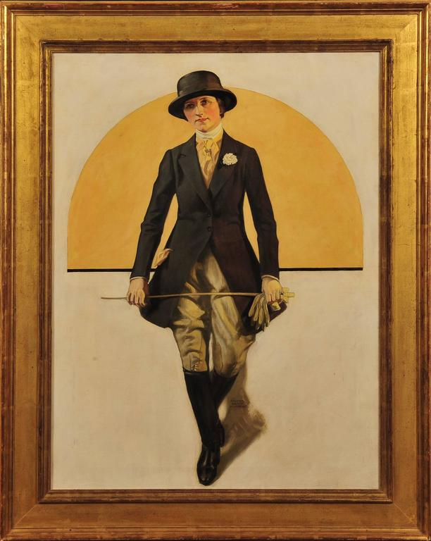 Woman in Equestrian Clothing - Painting by Walter Beach Humphrey