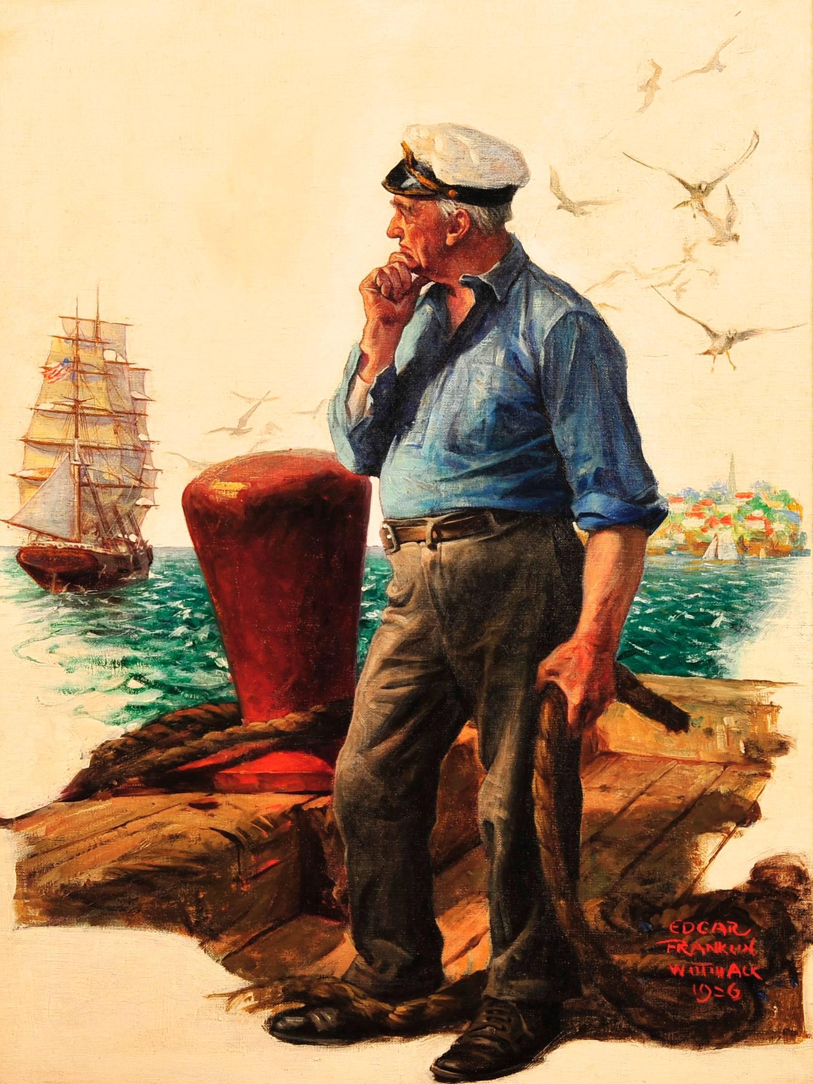 Sea Captain, Elks Magazine Cover, 1927