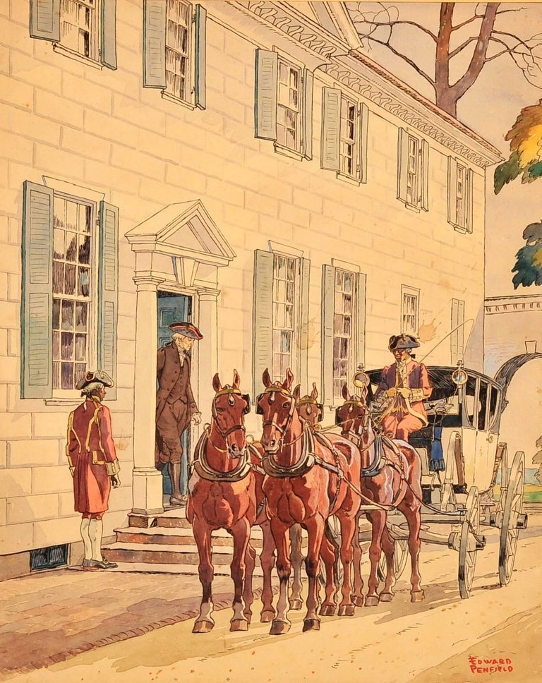 Washington at Mount Vernon - Painting by Edward Penfield