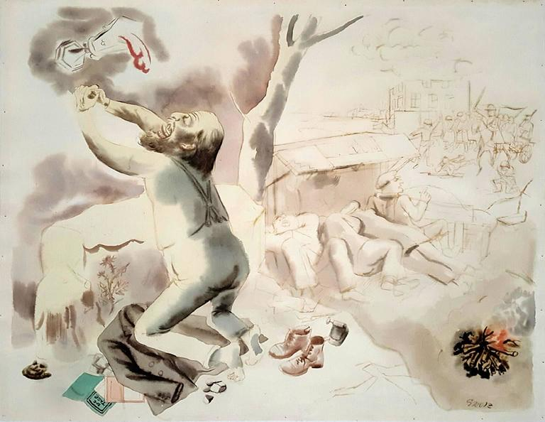 George Grosz Figurative Art -      Christus am Oelberg