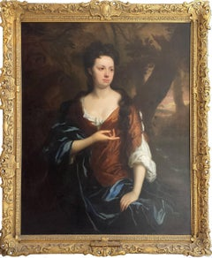 Portrait of Mrs. Fisher of Packerton, Warwick in  Brown dress with Blue Shawl