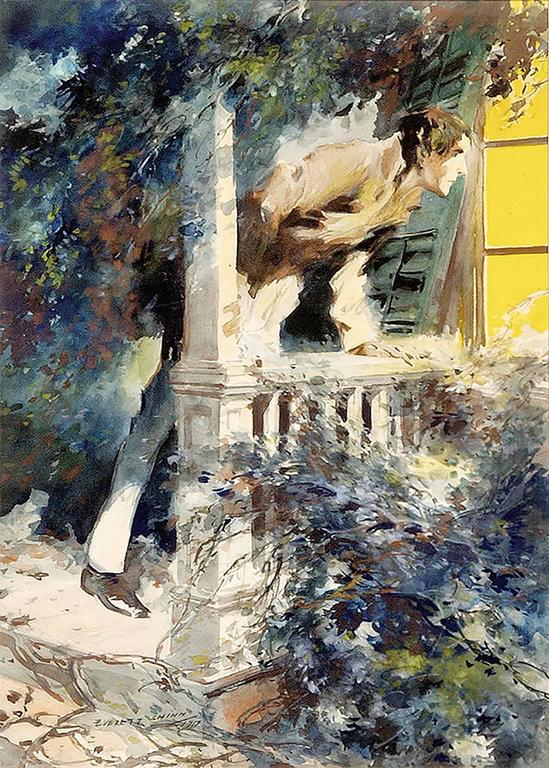 Man looking into Window